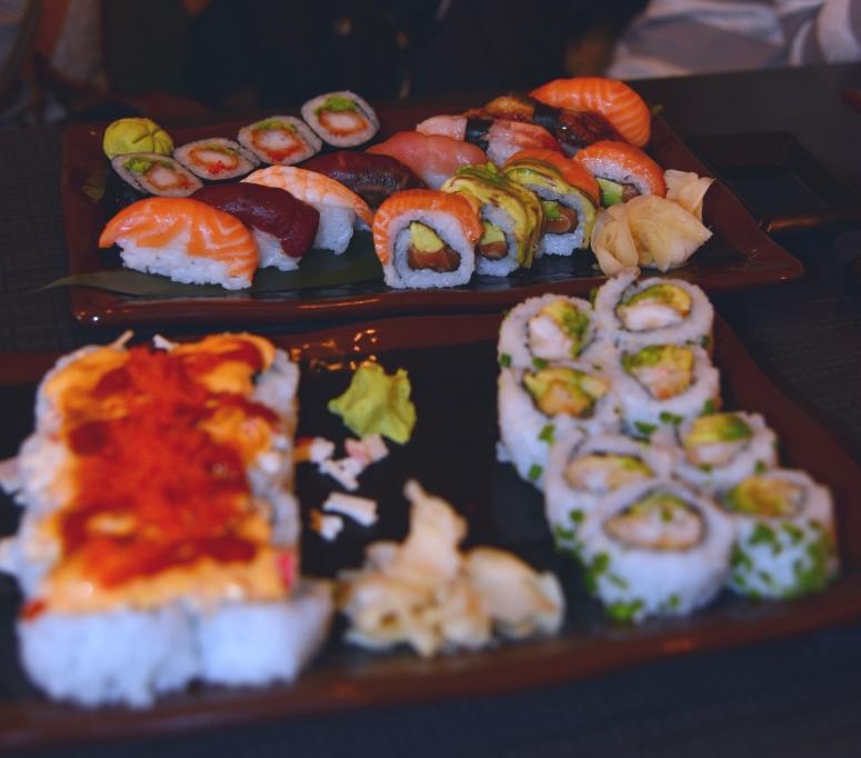 Sushibarinn dinner Reykjavik Whale horse sashimi