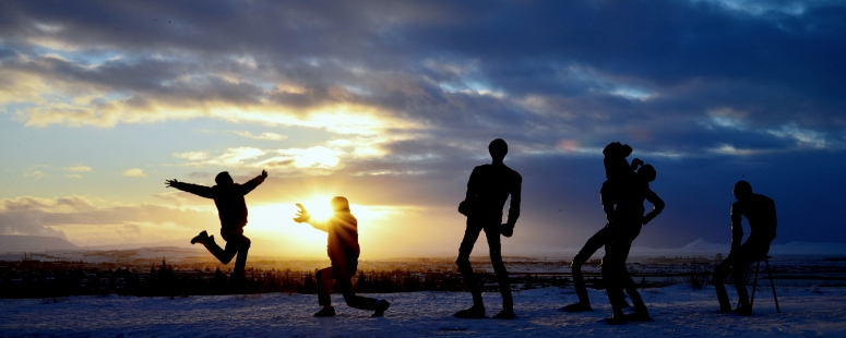 Perlan sunset Reykjavik