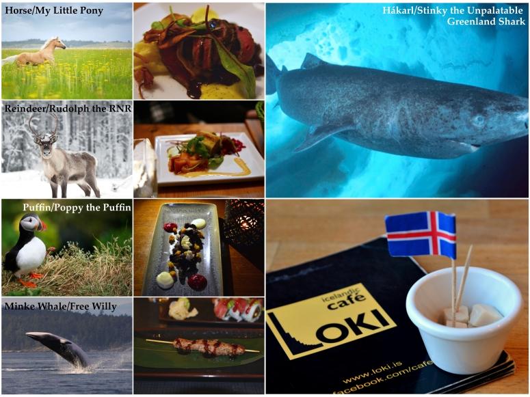Iceland Gross Foods Reindeer Horse Puffin Minke Whale Hakarl
