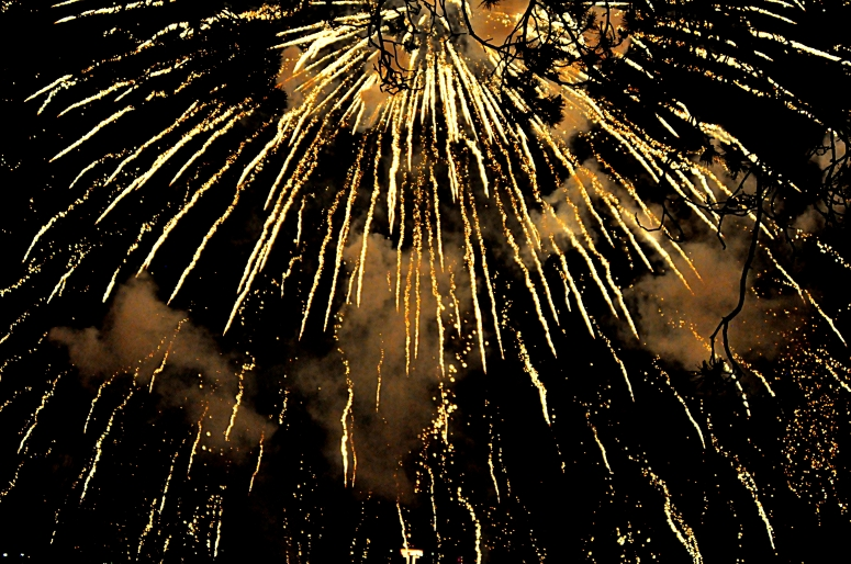 Blazing fireworks above Niagara by Night