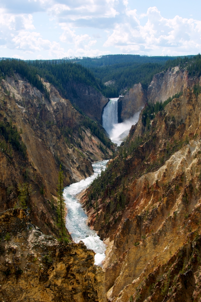 DNXB Artist Point Yellowstone Grand Canyon Lower Falls Waterfall dongnanxibei