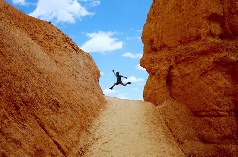 DNXB dongnanxibei Bryce Canyon National Park Utah UT Jump Jordan Navajo Loop hike