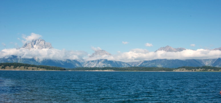 DNXB dongnanxibei Grand Teton Natioal Park mountain peak clouds lake