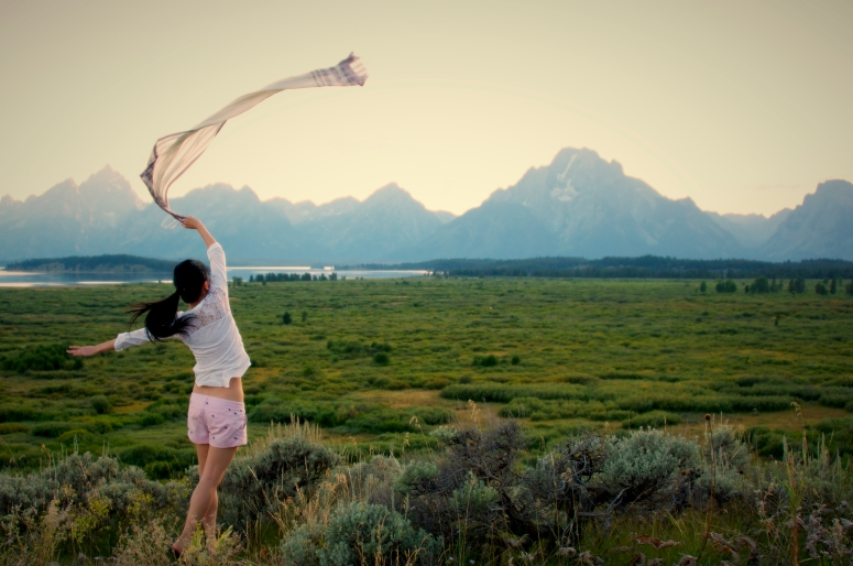 DNXB dongnanxibei Scarf Wave Grand Teton National Park Mountain Sunset Wyoming