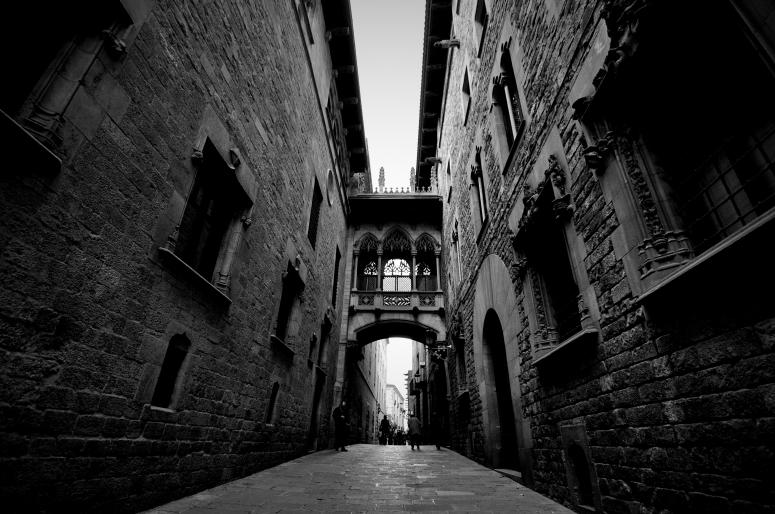 DNXB dongnanxibei Barrio Gotico Carrer del Bisbe Bridge Barcelona Spain Travel Nikon