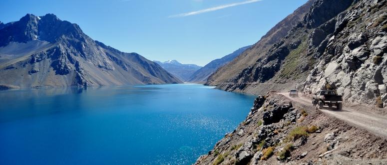 Enbalse el Yeso Santiago Chile Cajun Maipo Canyon glacial glacier lagoon turquoise DNXB dongnanxibei Nikon D90