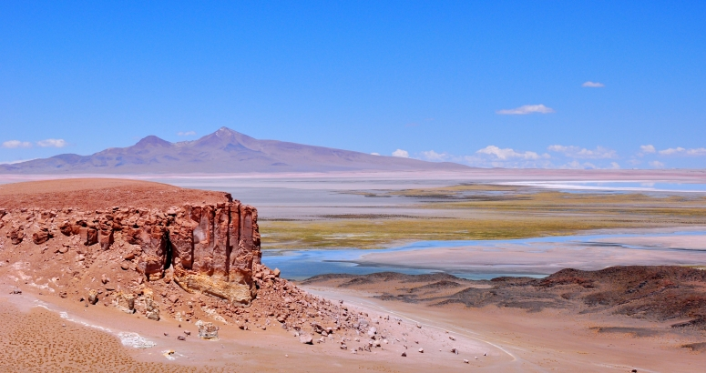 Salar de Tara Atacama San Pedro flamingo lake wide angle DNXB dongnanxibei Chile Nikon D90