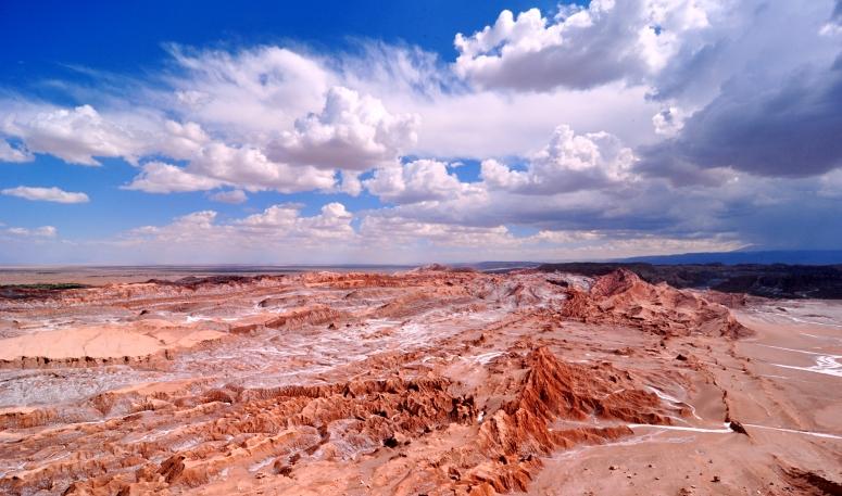 Valle de la Luna Atacama Desert Chile San Pedro Cliffs Canyon clouds DNXB dongnanxibei wide angle Nikon D90