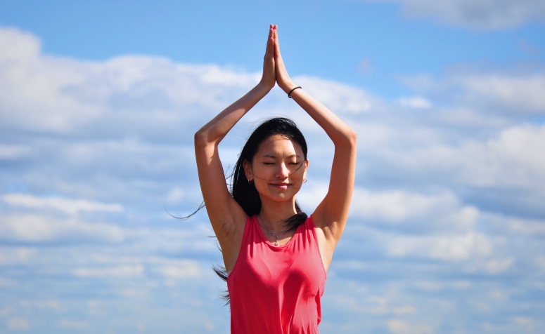 Yoga Hiking Hike Meditation Peace Tranquility Crane Mountain Adirondacks New York DNXB dongnanxibei