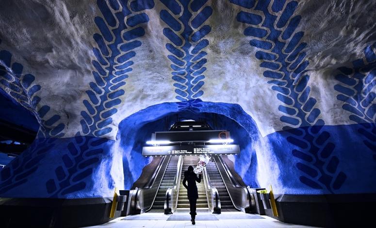 Stockholm Centrum Metro Blue DNXB dongnanxibei