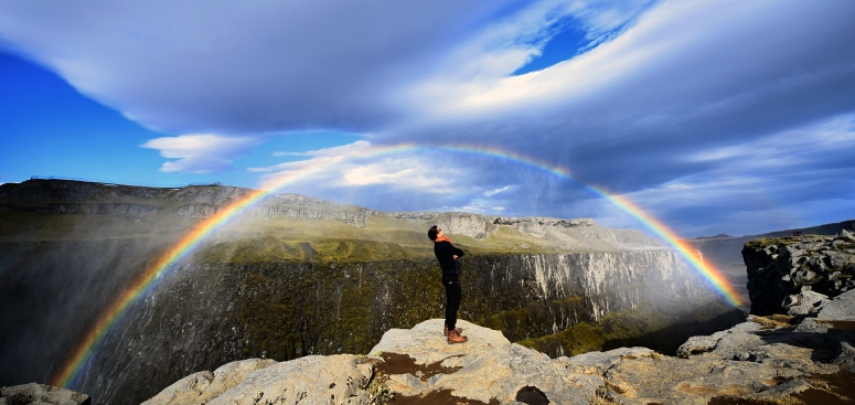 Dettifoss Rainbow Iceland Waterfall Rain Road Myvatn DNXB dongnanxibei