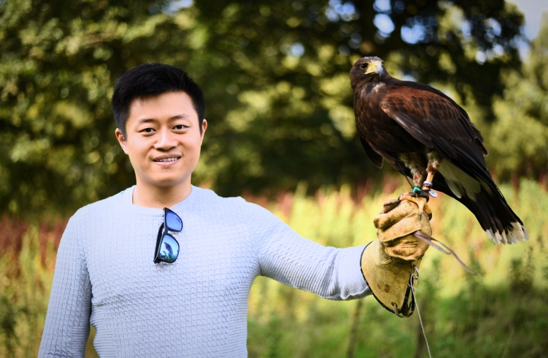 Gleneagles Falconry Holding Harris Hawk Hunting Scotland Highlands DNXB dongnanxibei