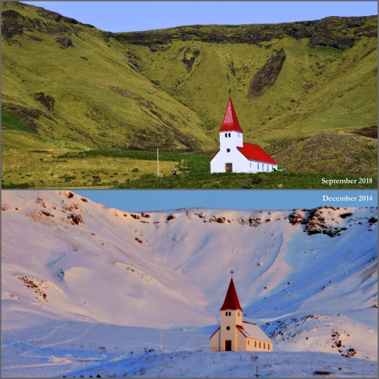 Vik Chapel Church Iceland Winter Summer DNXB dongnanxibei