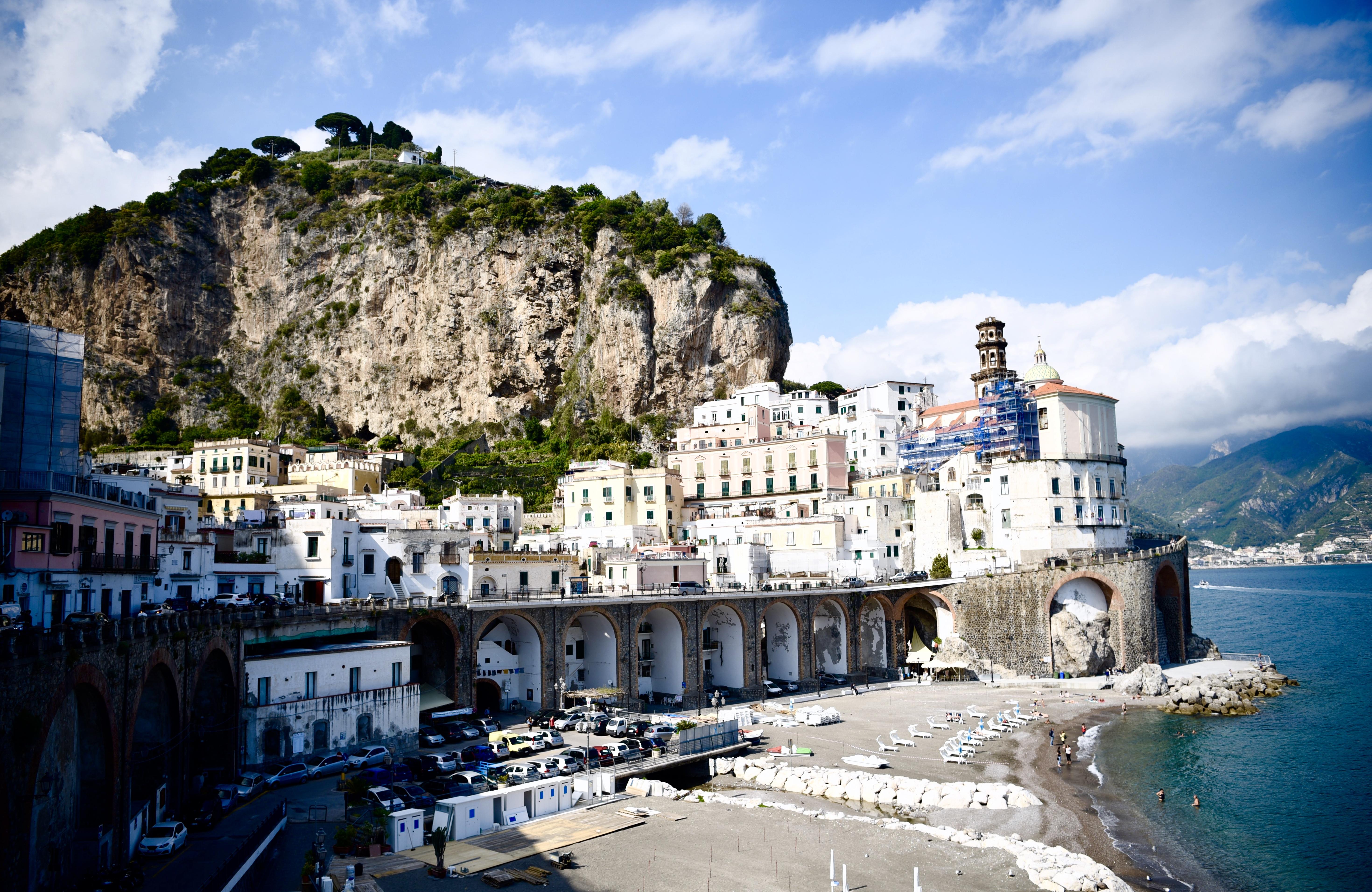 Atrani Town Amalfi Coast Beach DNXB dongnanxibei