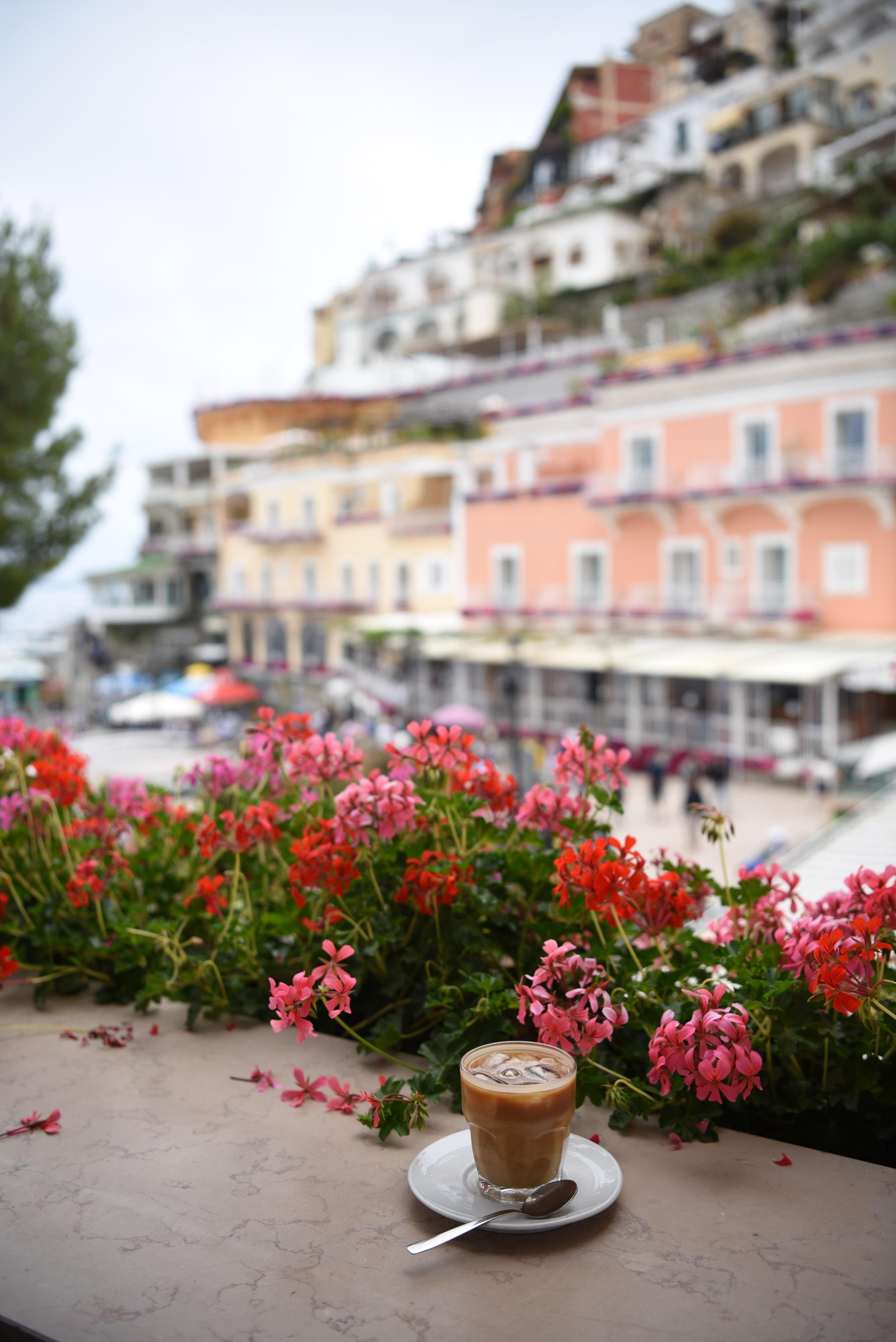 Cappuccino Positano Cafe Espresso Amalfi Coast DNXB dongnanxibei