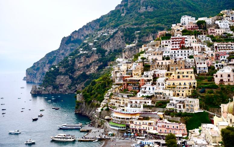 Full View Positano Town Amalfi Coast DNXB dongnanxibei