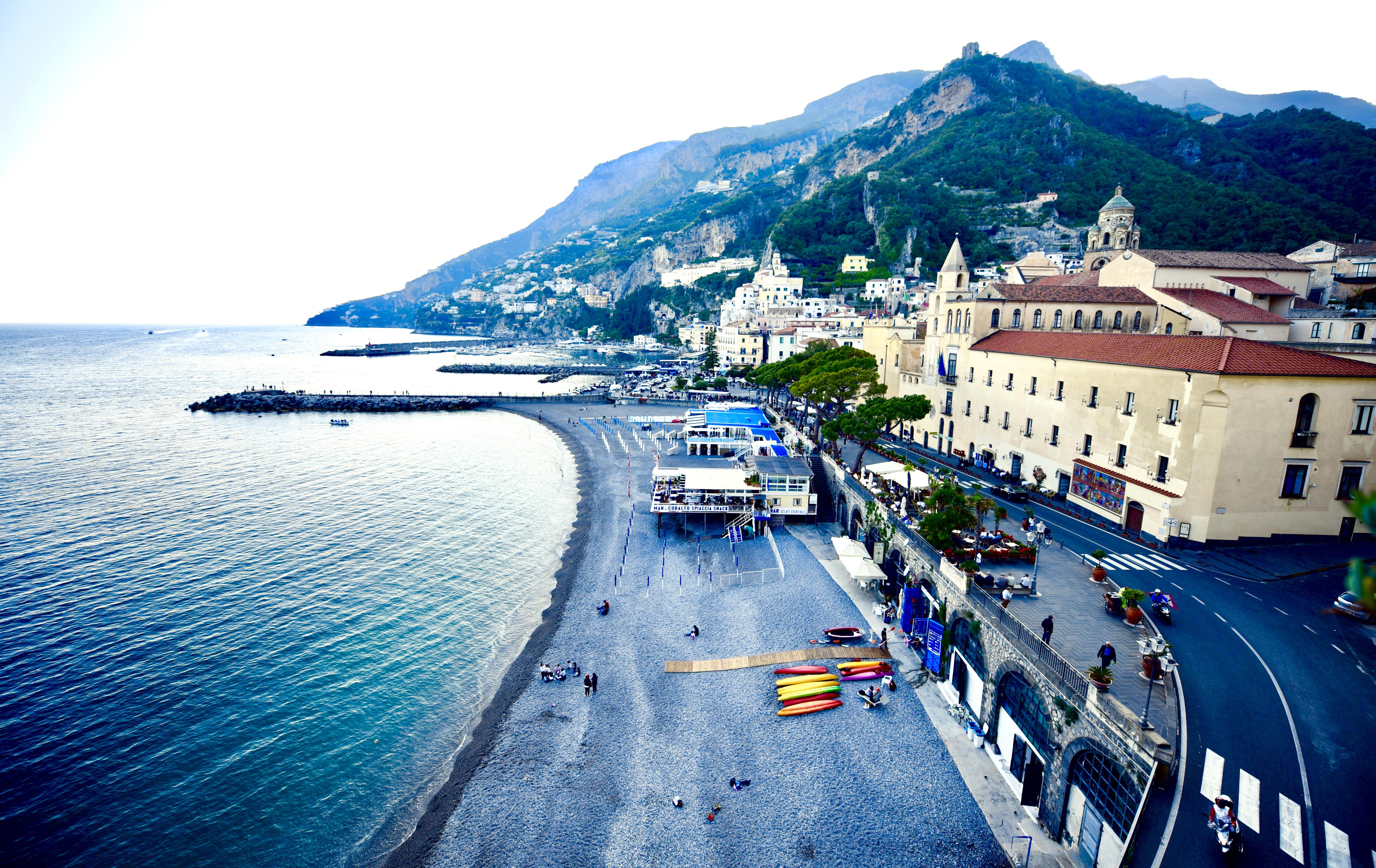 Hotel Marina Riviera Amalfi Coast Bend Road Balcony View Positano DNXB dongnanxibei