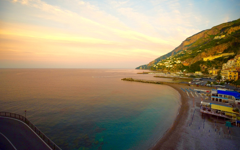 Hotel Marina Riviera Amalfi Coast Sunset Balcony View Positano DNXB dongnanxibei
