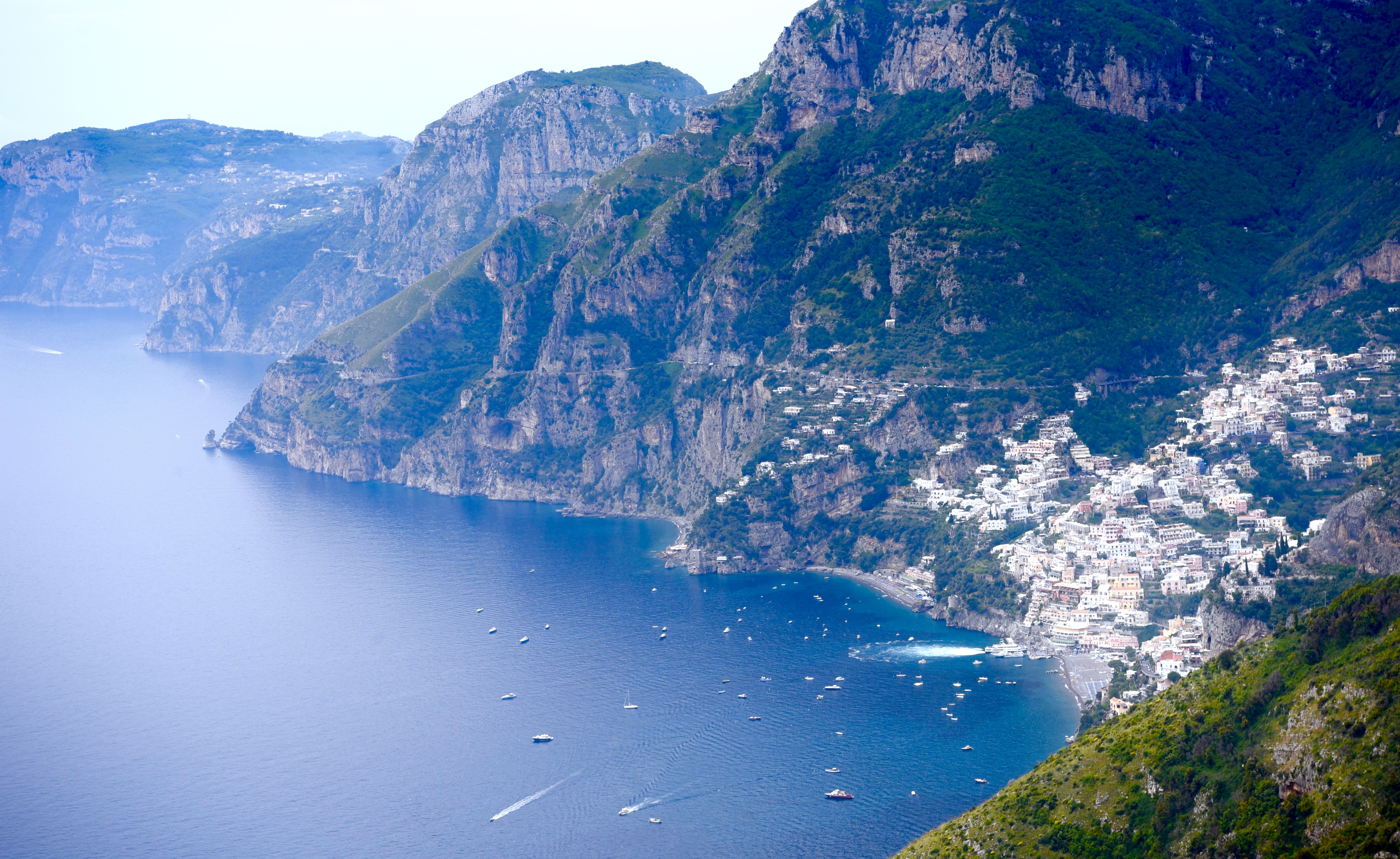 Panorama Positano Town Amalfi Coast DNXB dongnanxibei
