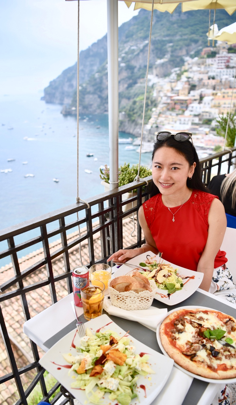Seaside Cafe Positano Town Amalfi Coast DNXB dongnanxibei