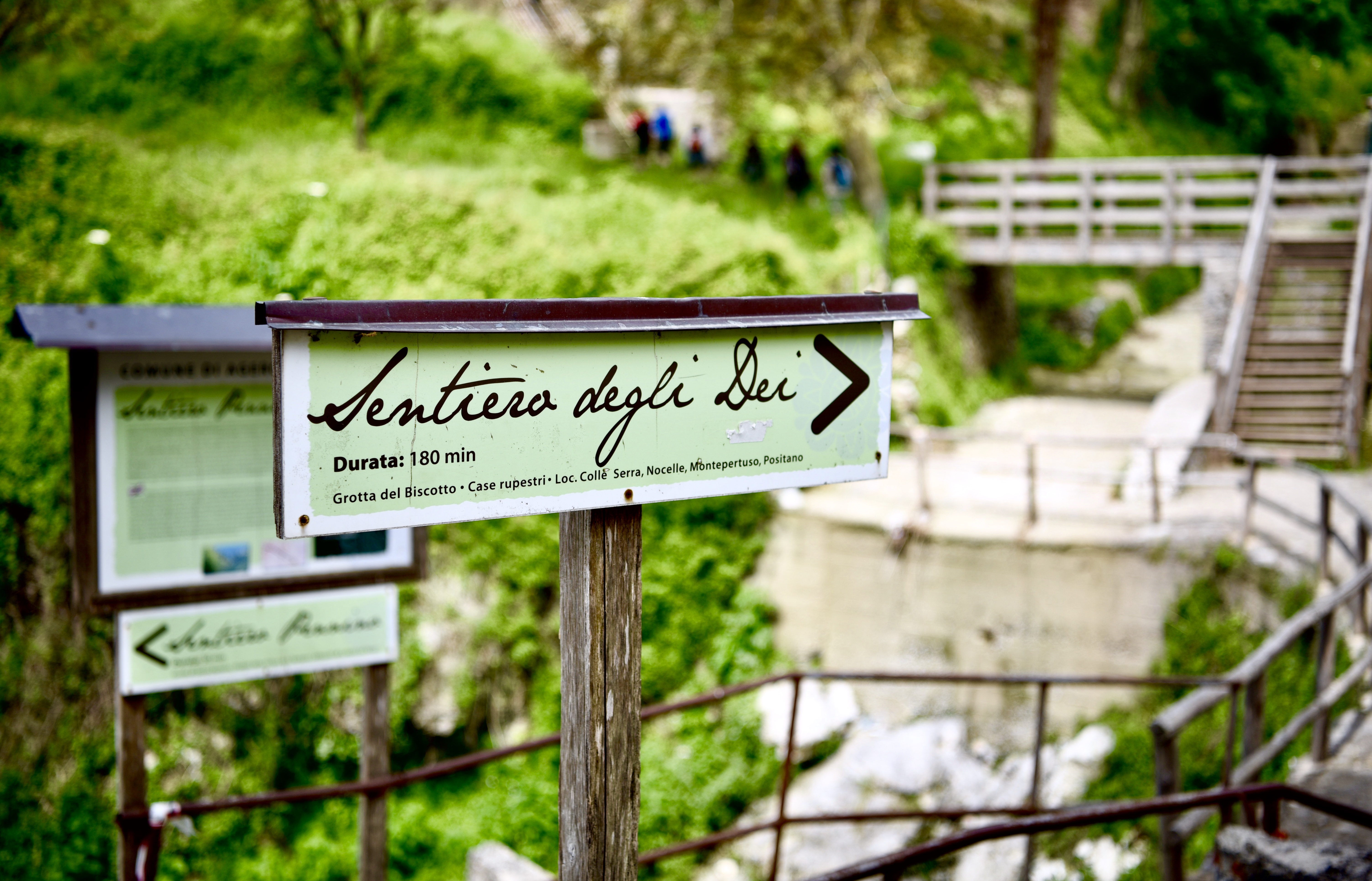 Sentiero Degli Dei Hike Sign Positano Amalfi Coast DNXB dongnanxibei