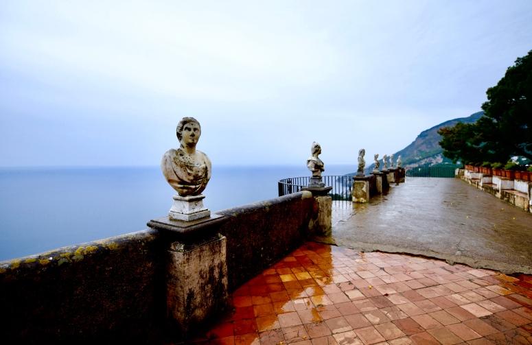 Statues Villa Cimbrone Terrazza dell'Infinito Terrace Infinity Ravello Amalfi Coast DNXB dongnanxibei